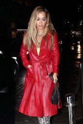 Rita Ora Night Out Style - Outside NOBU Restarant in London 10/07/2019