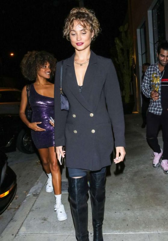 Rose Bertram - Outside Delilah Nightclub in LA 10/21/2019