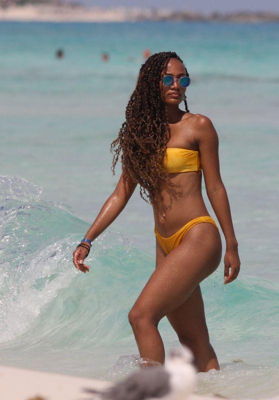Roxanne Didier in a Yellow Bikini 10/07/2019