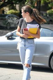 Sara Sampaio in Ripped Jeans - Acting Class in Los Angeles 10/10/2019