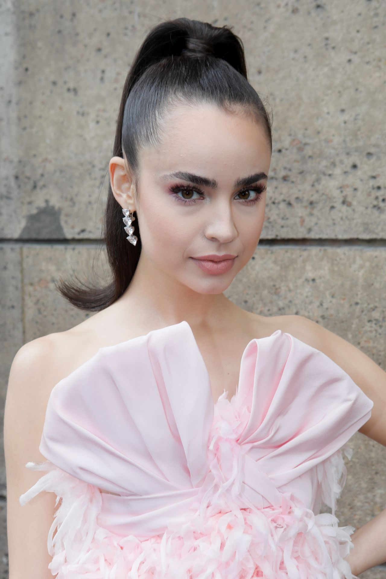 Sofia Carson Giambattista Fashion Show At Paris Fashion