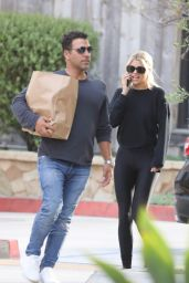 Sofia Richie in Tights - Picks up Food at Kristy
