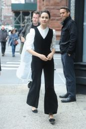 Tuppence Middleton - Outside BUILD Studios in NYC 10/22/2019