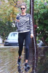 Alessandra Ambrosio in Black Tights - Los Angeles 11/20/2019