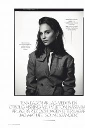 Alicia Vikander - ELLE Sweden December 2019 Issue