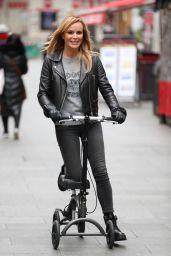 Amanda Holden on Her Knee Scooter 11/19/2019