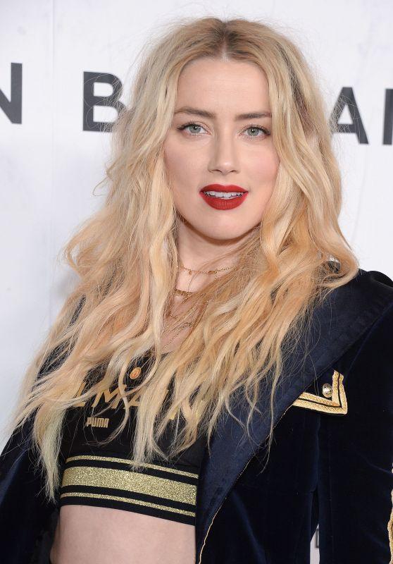 Amber Heard – PUMA x Balmain Launch Event in LA