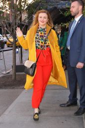 Amber Tamblyn in a Colorful Outfit 11/04/2019