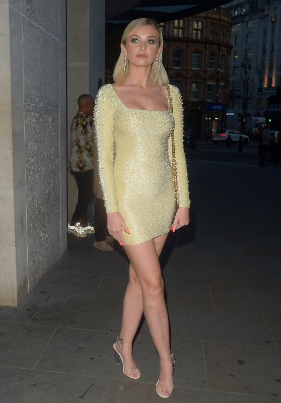 Amy Hart - Lipstick and Champagne Party in London 11/29/2019