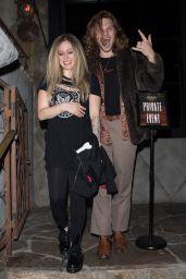Avril Lavigne and G-Eazy at Jamil Davis