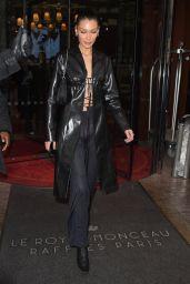 Bella Hadid - Leaving the Royal Monceau Hotel in Paris 11/15/2019