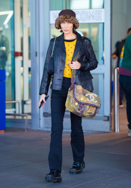 Bella Hadid Looks Stylish - JFK Airport in New York 11/16/2019
