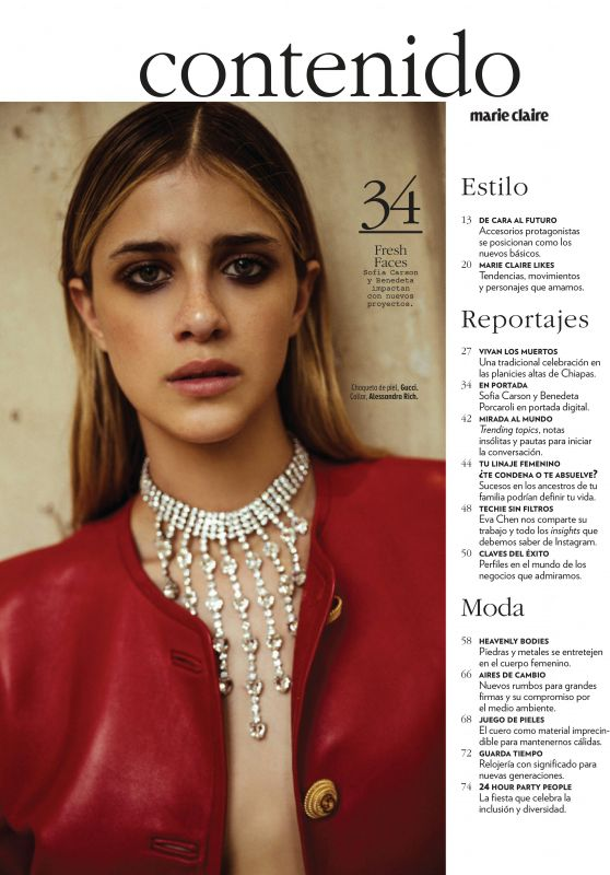 Benedetta Porcaroli - Marie Claire Mexico November 2019 Issue