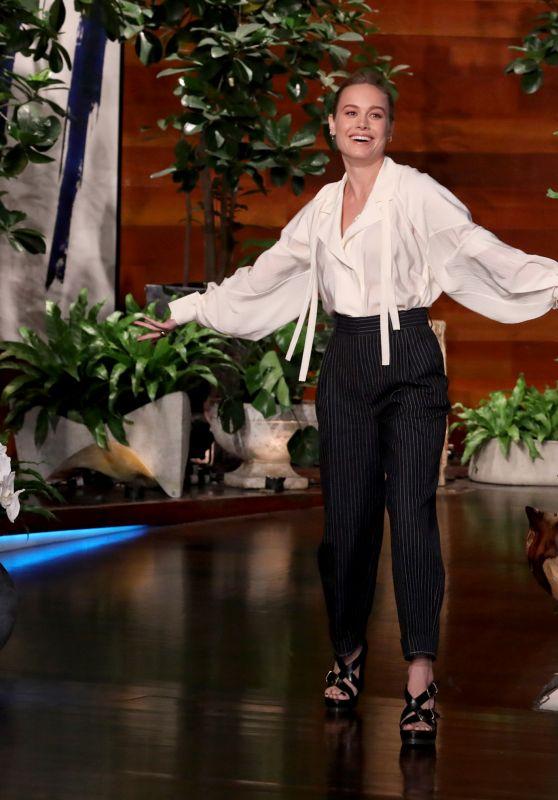 Brie Larson - The Ellen DeGeneres Show in Burbank 11/19/2019
