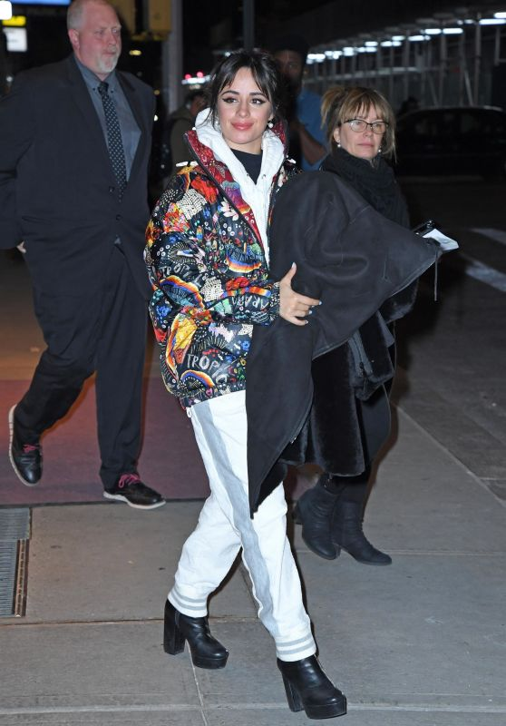 Camila Cabello in a Colorful Jacket and Platform Shoes 11/14/2019