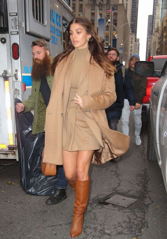 Camila Morrone in a Brown Ansamble - Out in New York 11/12/2019