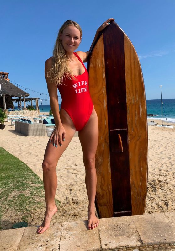 Caroline Wozniacki in Swimsuit - Social Media 11/28/2019