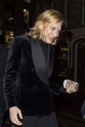 Cate Blanchett - Leaving the Fayre of St. James Christmas Carol Concert in London 11/26/2019