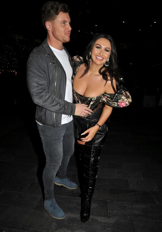 Charlotte Dawson and Matt Sarsfield - Arriving at The Ivy Restaurant in Manchester 11/23/2019
