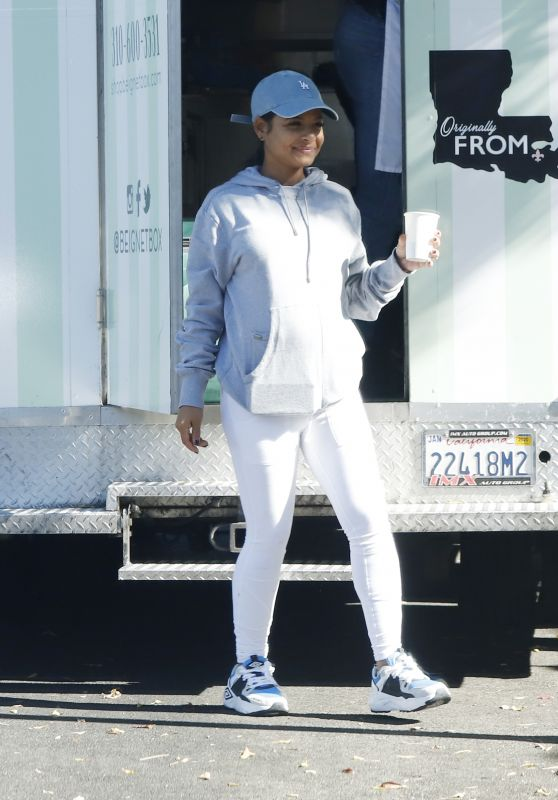 Christina Milian - Working at Her Beinet Box Truck in LA 11/24/2019