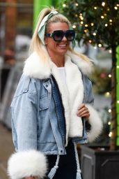 Christine McGuinness in a Very Fluffy Sleeved and Collard Jacket 11/28/2019