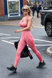 Christine McGuinness in Tight Gym Wear - Cheshire 11/22/2019