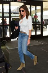 Cindy Crawford in Denim Jeans - LAX Airport 11/21/2019