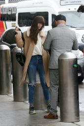 Dakota Johnson in Travel Outfit - LAX in Los Angeles 11/27/2019