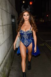 Demi Rose Night Out in Mayfair London 10/26/2019