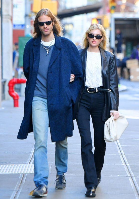 Elsa Hosk and Boyfriend Tom Daly - NYC 11/27/2019