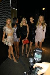 Elsa Hosk, Romee Strijd, and Josephine Skriver – Outside the boohoo.com Holiday Party in LA 11/07/2019