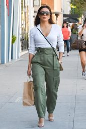 Eva Longoria Street Style - Shopping in Beverly Hills 11/08/2019