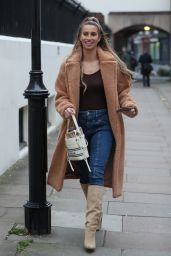 Ferne McCann in Denim and Knee High Suede Boots 11/21/2019