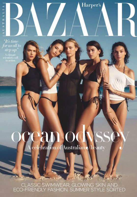 Gemma Ward, Georgia Fowler, Victoria Lee and Charlee Fraser - Harper's Bazaar Australia December 2019 Issue