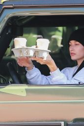 Hailey Rhode Bieber - Gets Coffee Delivered to Her Car - Blue Coffee in Beverly Hills 11/19/2019