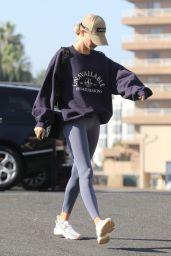 Hailey Rhode Bieber in Leggings - LA 11/12/2019