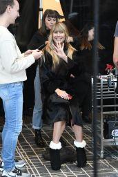 Heidi Klum Costume Unfold on Amazon Display Window in New York 10/31/2019