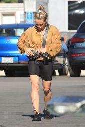Hilary Duff in Bike Shorts 11/24/2019