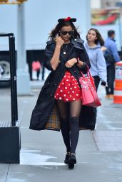 Irina Shayk as a sexy Minnie Mouse for Halloween in New York 10/31/2019