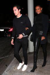 Jasmine Tookes and Her Boyfriend at Catch LA 11/09/2019