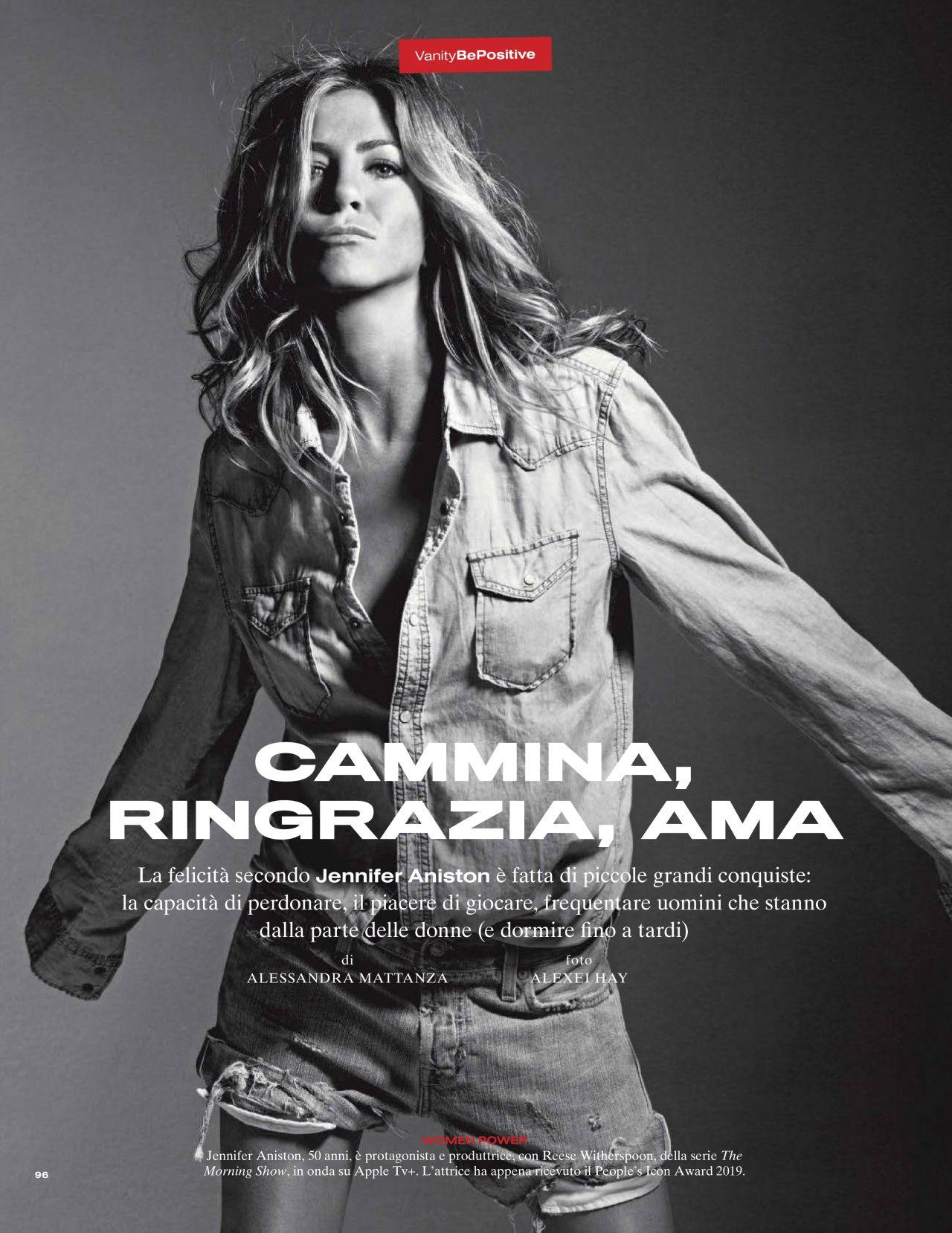 Super cougar Jennifer Aniston Vanity Fair Italy