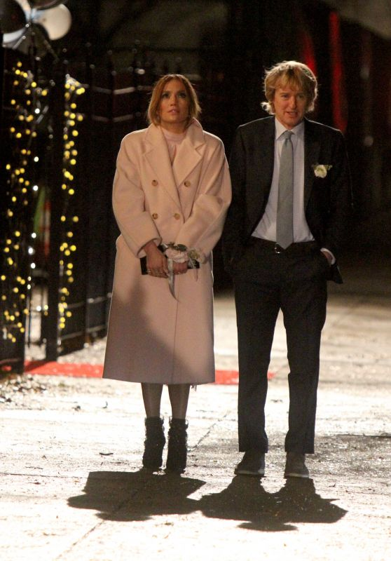 "Jennifer Lopez and Owen Wilson - ""Marry Me"" Filming in Brooklyn 11/23/2019"