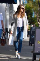 Jessica Biel Street Style - Leaving Joan