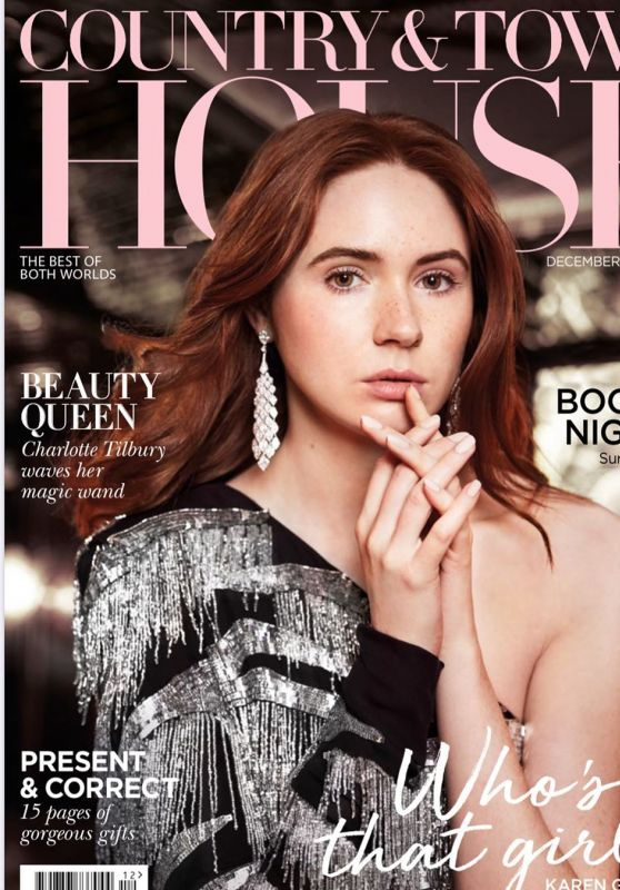 Karen Gillan - Country & Town House Magazine December 2019 Cover and Photos