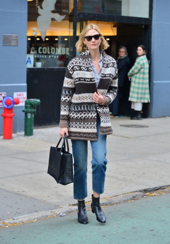 Karlie Kloss Street Style - NYC 11/14/2019