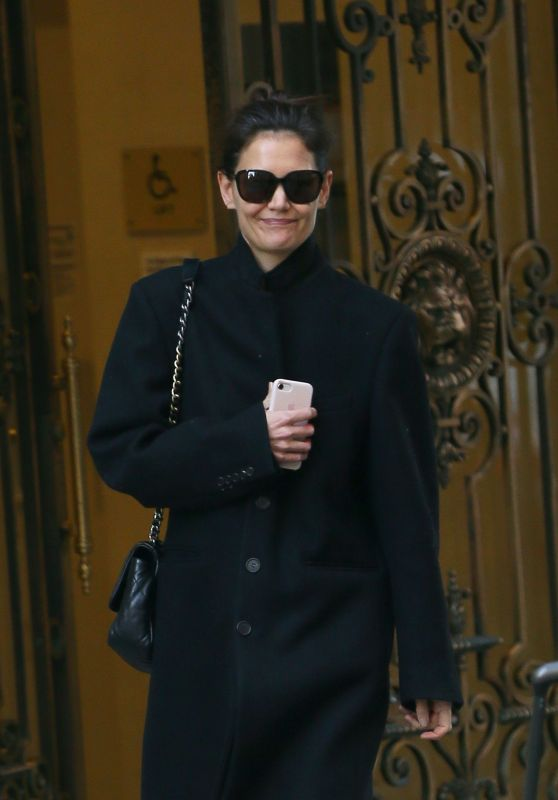 Katie Holmes - Exiting Her Apartment in New York 11/26/2019