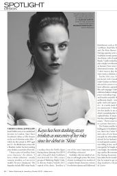 Kaya Scodelario - Tatler Magazine UK December 2019 Issue