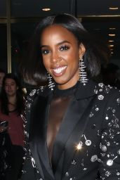 Kelly Rowland in Black Sequin Jacket and Black Tights 11/26/2019