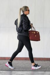 Khloe Kardashian in Tights - Los Angeles 11/01/2019