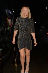 Kimberley Walsh Night Out - Leaving Bagatelle in Mayfair 11/22/2019